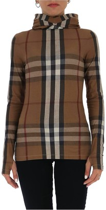 Burberry Checked Hooded Top