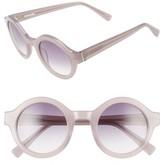 Derek Lam Women's 'Luna' 47Mm Round Sunglasses - Black Brown