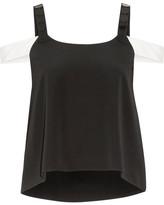 Maiyet Embellished Silk-crepe Top - Black