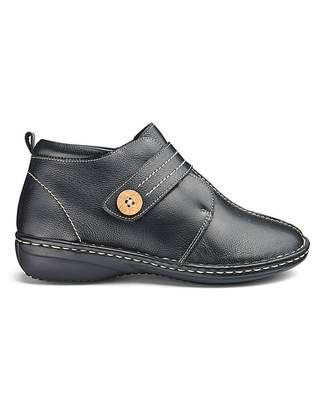Jd Williams Touch and Close Leather Boots E Fit