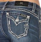 Miss Me Junior's Mid Rise Embellished Skinny Jean