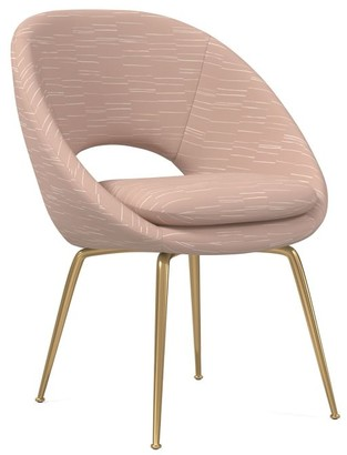 west elm Orb Upholstered Dining Chair - Patterned