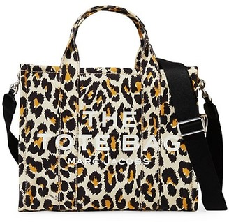 Marc Jacobs Small Traveler Leopard-Print Canvas Tote
