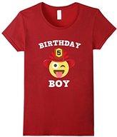 Men's Emoji 5th Birthday Boy Fireman T-Shirt Wink Out Shirt Large