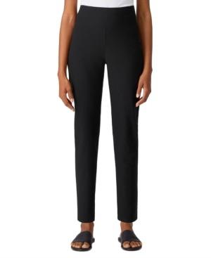 Eileen Fisher High-Waist Slim Ankle Pants