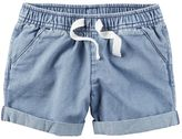 Carter's Girls 4-8 Cuffed Denim Shorts