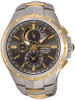 Seiko Ssc376p9 Chronograph Date Two Tone Bracelet Strap Watch, Multi/dark Navy