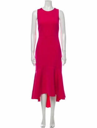 Belle Badgley Mishka Crew Neck Long Dress w/ Tags Pink