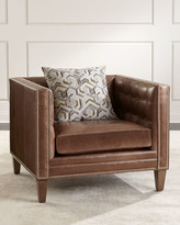 Jagger Massoud Tufted Leather Chair