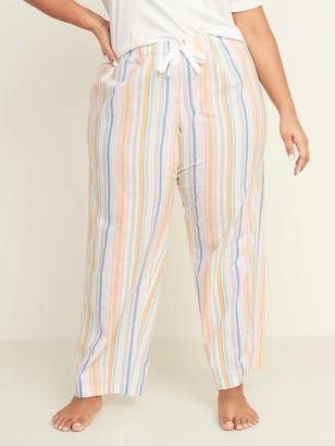 Old Navy Printed Poplin Plus-Size Pajama Pants