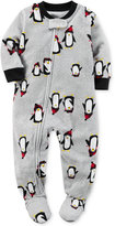 Carter's 1-Pc. Penguin-Print Footed Pajamas, Toddler Boys (2T-4T)