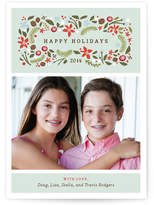 Minted Blushing Christmas Christmas Photo Cards