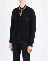 The Kooples Dragon-embroidered wool cardigan