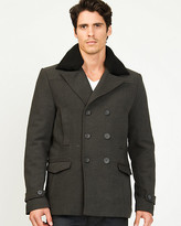 Le Château Wool Twill Double Breasted Peacoat