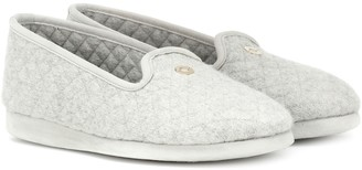 Loro Piana Quilted cashmere slippers