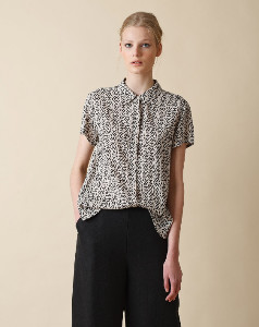 Printer And Tailor - Fluid Shirt With Ethnic Print - S