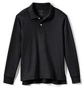 Classic Big Kids Long Sleeve Interlock Polo-White