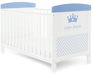 O Baby Obaby Grace Inspire Cot Bed and Eco Foam Mattress - Little Prince