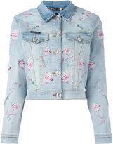 Philipp Plein Pycnopodia denim jacket - women - Cotton/Spandex/Elastane - S