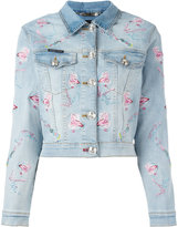 Philipp Plein Pycnopodia denim jacket - women - Cotton/Spandex/Elastane - XS