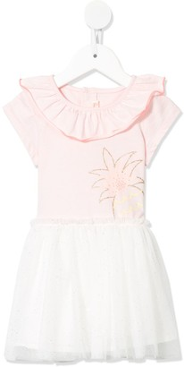 Billieblush Glitter-Embroidery Tulle Dress