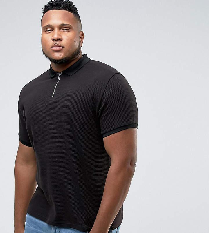 Bellfield PLUS Polo Shirt With Half Zip