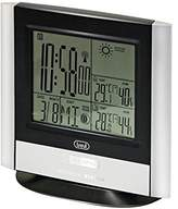 Trevi Radio Controlled Alarm Clock and Weather Station with External Sensor, Plastic, Back/Silver