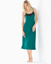 Soma Intimates Tea Length Nightgown Green Envy