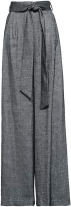 Milly Belted Linen-blend Twill Wide-leg Pants
