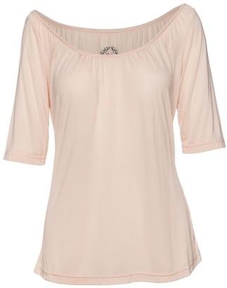 Conquista Elbow Sleeve Light Pink Top