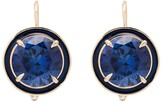 Alison Lou 14kt gold Round Cocktail sapphire drop earrings