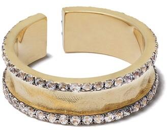 Feidt Paris 9kt Yellow Gold Sapphire Open Band Ring