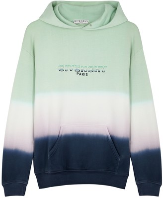 Givenchy Tie-dyed hooded cotton sweatshirt