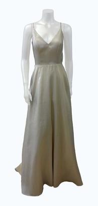 Cachet Women's Spagetti Strap Shimmer Ballgown