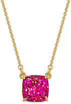 Kate Spade 12k Gold-Plated Pink Glitter Pendant Necklace