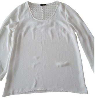 Adolfo Dominguez White Silk Top for Women