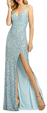 Mac Duggal Sequined Fishtail Gown