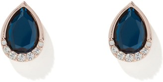 Forever New Juliet Pear Diamante Stud Earrings - Navy - 00