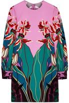 Valentino Pink Printed Silk Mini Dress