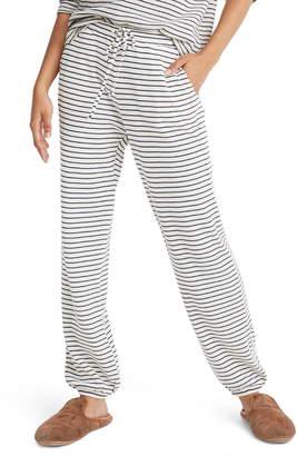 Madewell Stripe Waffle Knit Pajama Pants