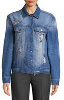 Kensie jeans Distressed Denim Jacket