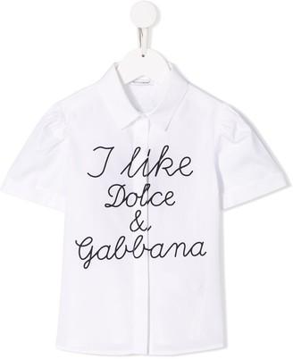 Dolce & Gabbana Slogan Print Shirt
