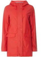 Dorothy Perkins Womens Red Stripe Lined Raincoat- Red