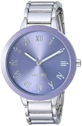 Nine West Women's NW/2249LVSV Silver-Tone Bracelet Watch