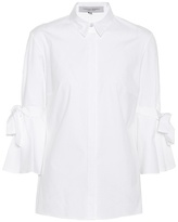 Carolina Herrera Solid cotton blouse