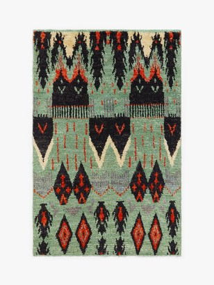 Gooch Luxury Hand Knotted Aztec Berber Style Rug, L240 x W170 cm