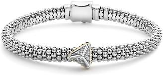 Lagos KSL Caviar Rope Bracelet w/ Pyramid