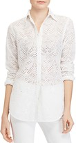 Lauren Ralph Lauren Eyelet Button Down Shirt
