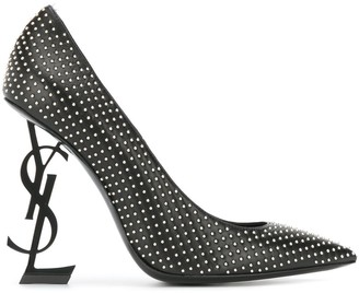 Saint Laurent Opyum 110mm studded pumps
