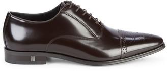 Versace Brogue Cap-Toe Leather Oxfords